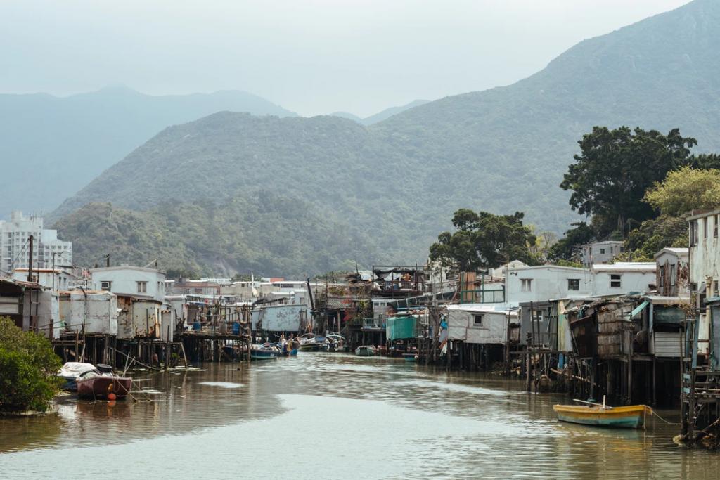 途上発展国の川辺